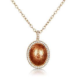 Sunstone Diamond Necklace