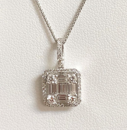 Baguette and Round Diamond Namdar Pendant