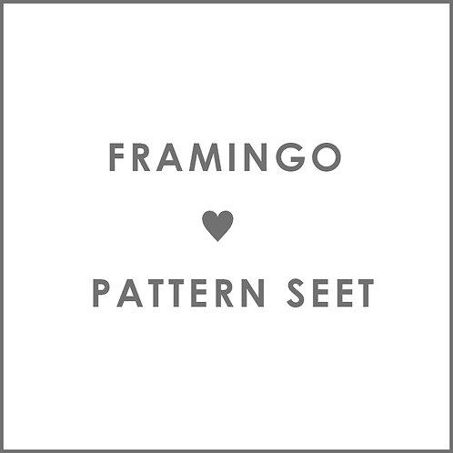 フラミンゴ型紙
