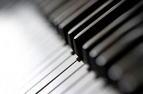 Piano Keys Black and White