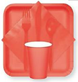 Coral Tableware at Big Top Party Shop Norfolk NE. Party Supply store