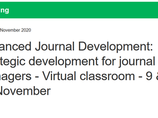 ALPSP Course - Advanced Journal Development: Strategic development for journal managers