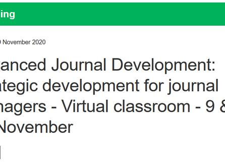 ALPSP Course - Advanced Journal Development: Strategic development for journal managers