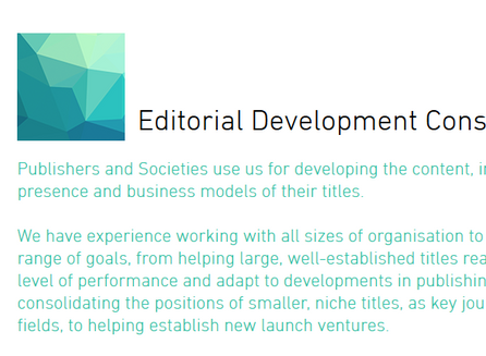 Updates to our Editorial Development Consultancy pages
