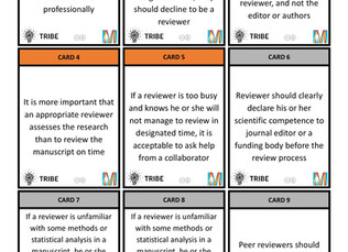 A peer review card exchange game