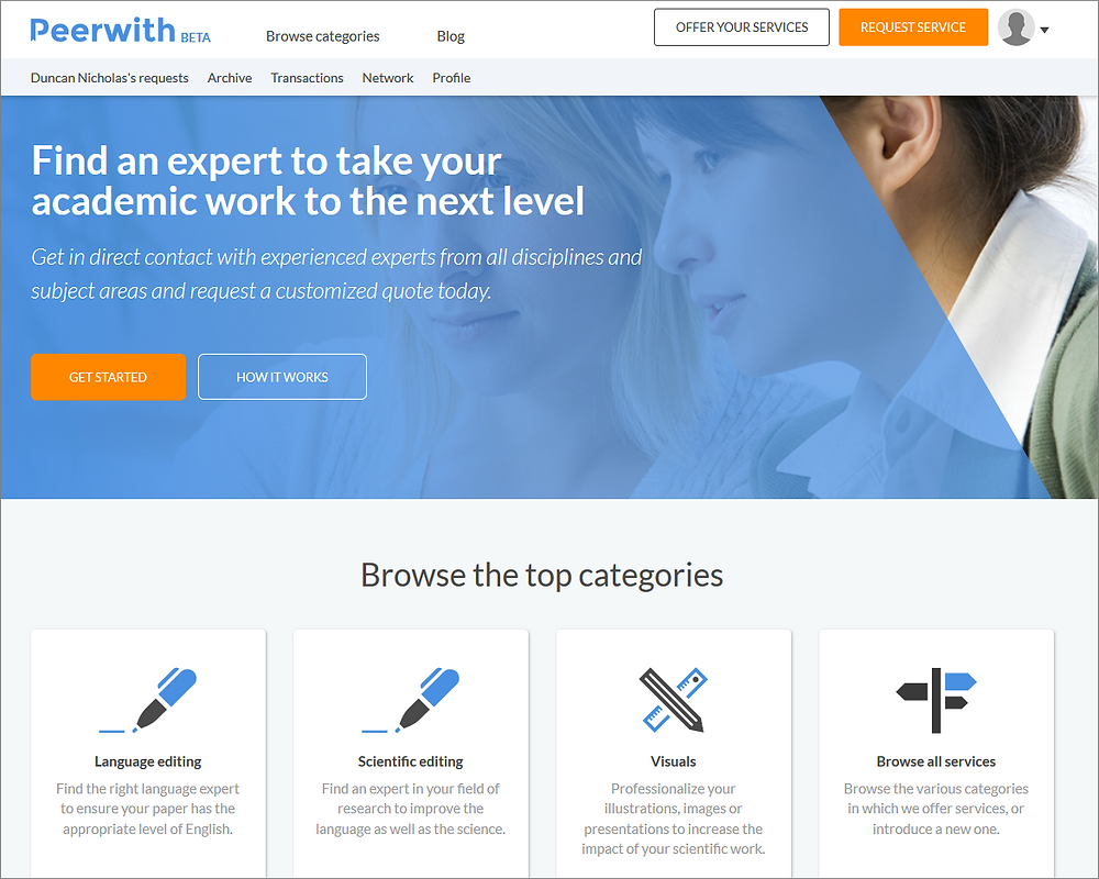 peerwith homepage