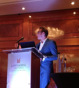 Delivering the opening speech at the ISMTE Conference in London, November