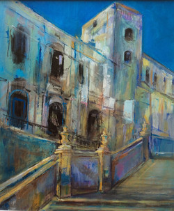 Cathedral, Noto, Sicily - acrylic on canvas
