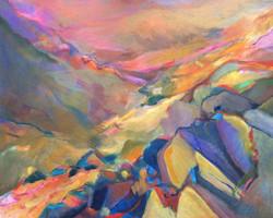 Dusk In The Valley - acrylic