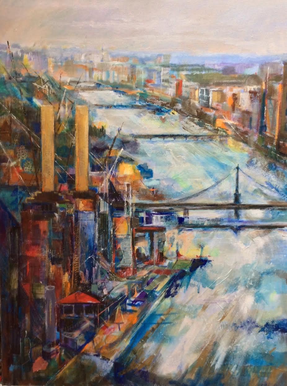 Thames - mixed media