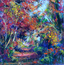Autumnal Walk - acrylic