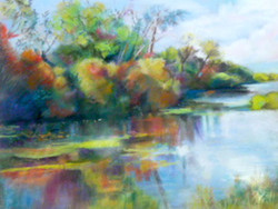 Stockbridge Marsh - pastel
