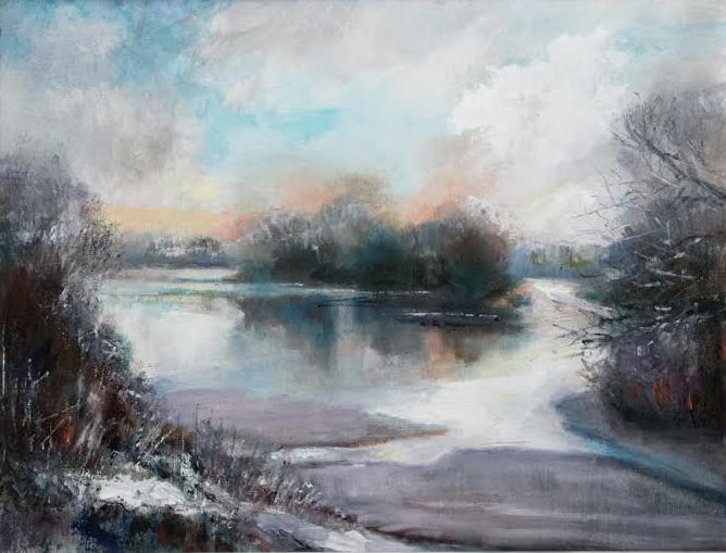 Winter Patience - oil