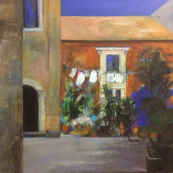 Unexpected Corner, Siracusa, Sicily - acrylic on canvas