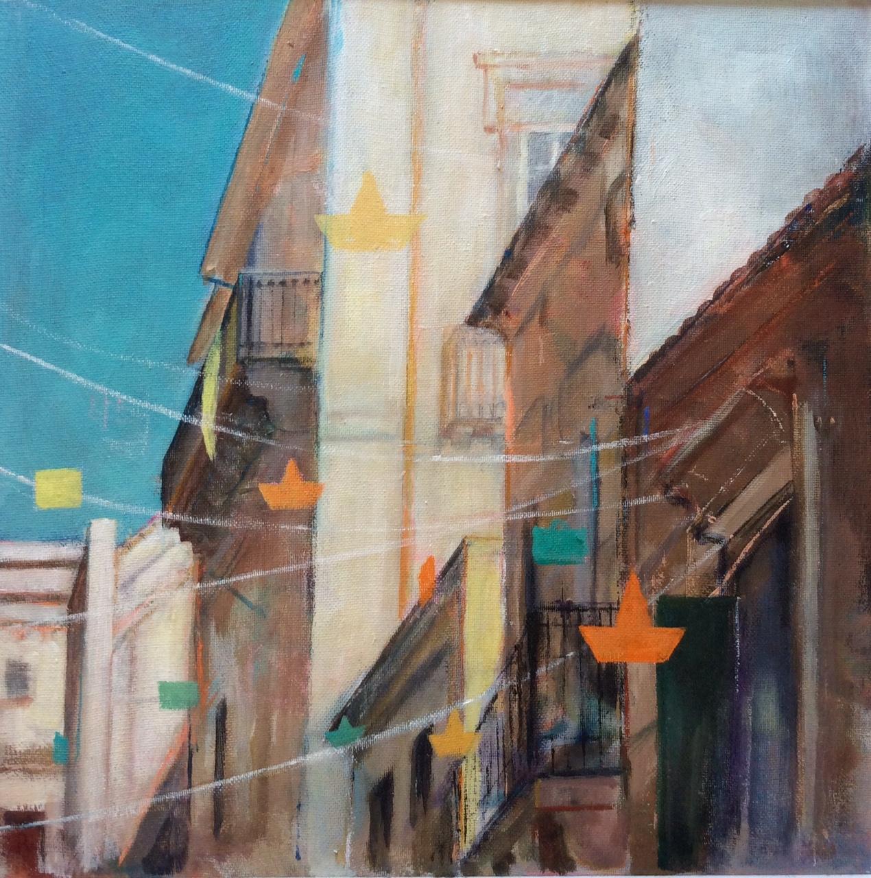 'Festa', Noto, Sicily - acrylic on canvas