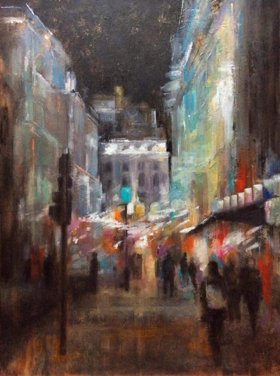 City Lights - Acrylic on canvas