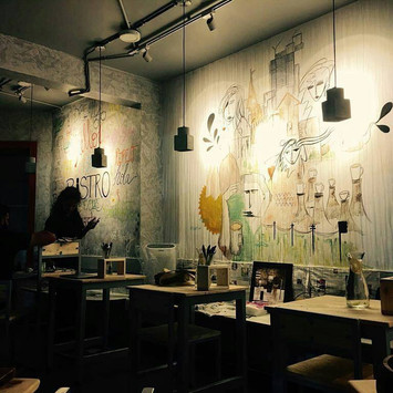 Wall Mural @ Plated Bistro