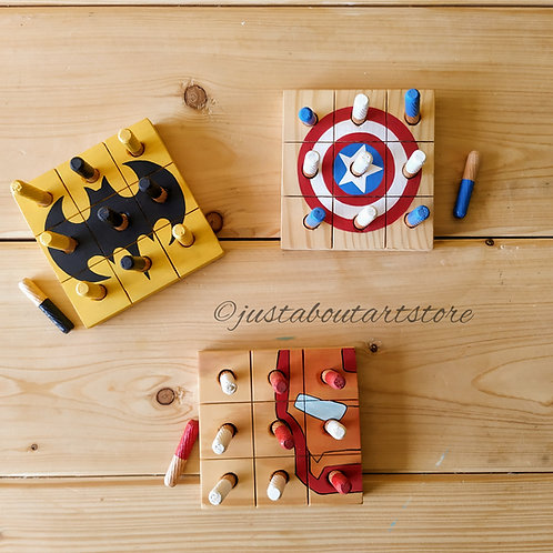 Wooden Tic Tac Toe Game - Customisable