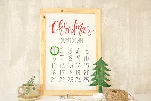 Wooden Christmas Countdown Calendar