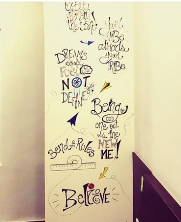 Doodle Wall for Akanksha Kohli