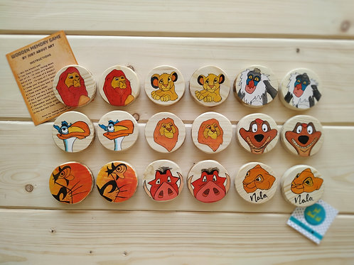 Wooden Memory Game - The Lion King Theme