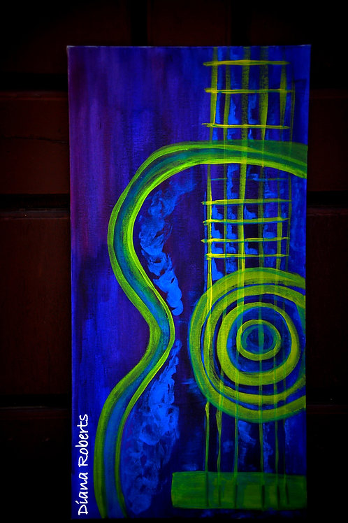 Canvas Painting - Guitar