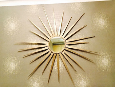 Sun Shaped Wooden Art with mirror