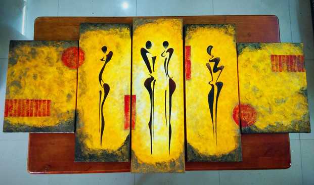 5pc canvas painting