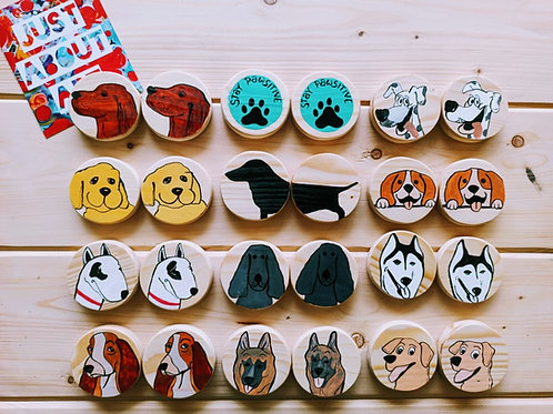 Wooden Memory Game - Pet Theme (Dogs)