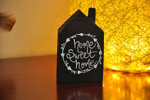 Home Shaped Wooden Table Top - Home Sweet Home