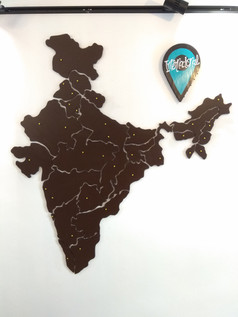 India Map with State cutouts