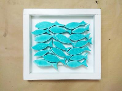Fish themed wood art
