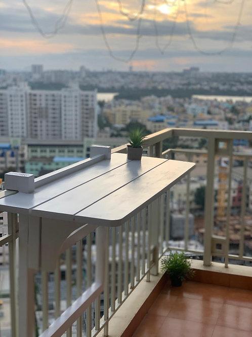 Solid Wood Balcony Murphy Table
