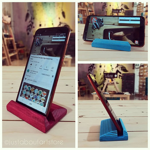 Wooden Phone Stand - Custom Made on Order