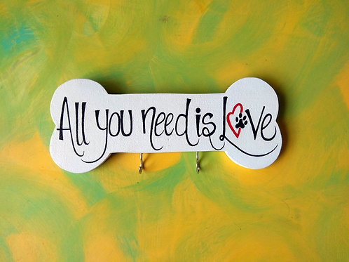 Pet Themed Key Holder - All you need is Love