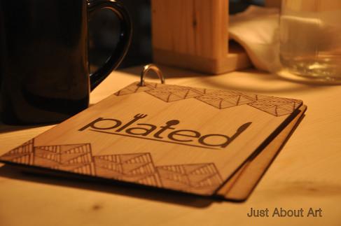 Menu Design @ Plated Bistro