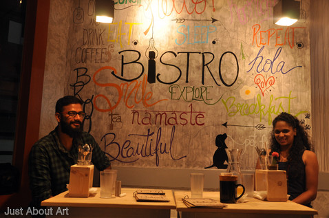 Wall Mural at Plated Bistro