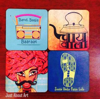 Customised print Coasters
