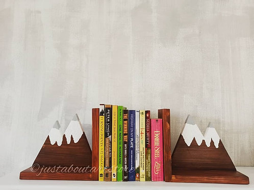 Snow Capped Mountains Bookend
