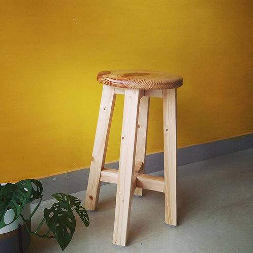 Solid Wood Bar  Stool