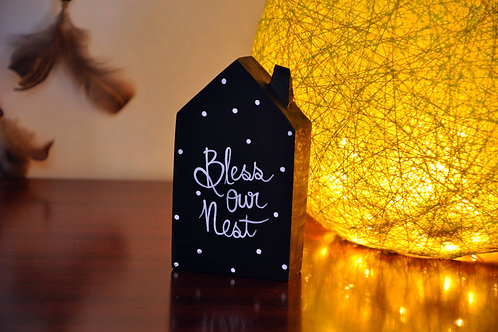 Home Shaped Wooden Table Top - Bless Our Nest