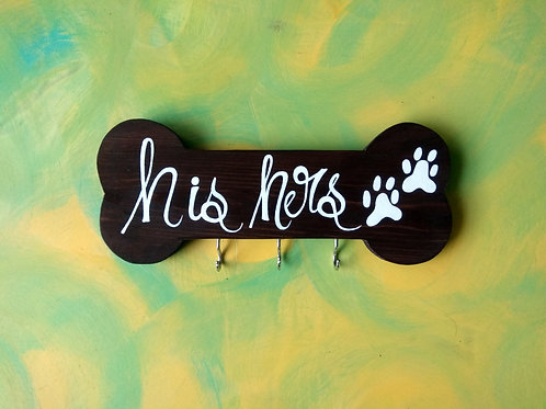 Pet Themed Key Holder - His Hers Paws
