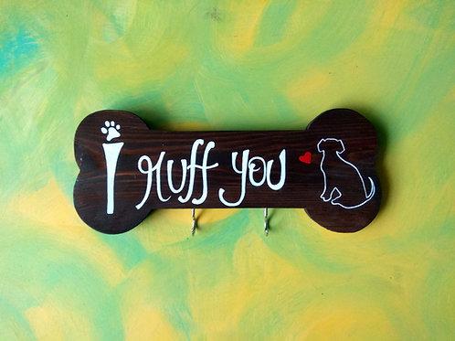 Pet Themed Key Holder - I Ruff You