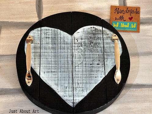 Round Tray - Distressed Heart Theme