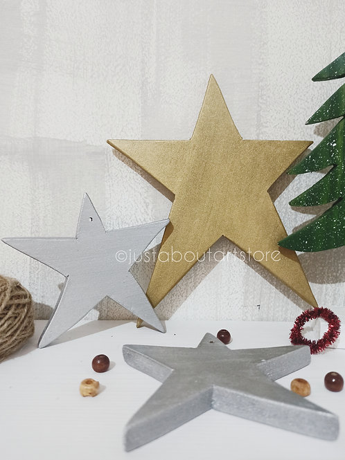 Star Wooden Christmas Ornament