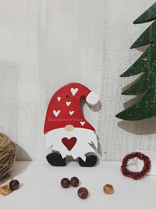 Santa Wooden Christmas Ornament