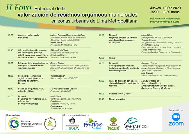 Flyer Programa Foro de residuos orgánico