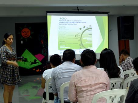 Con gran éxito se realizó el I Foro de Residuos Orgánicos en zonas urbanas de Lima Metropolitana