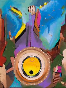 Transcendental Wheel - 40.5 x 30.5cm - 2017
