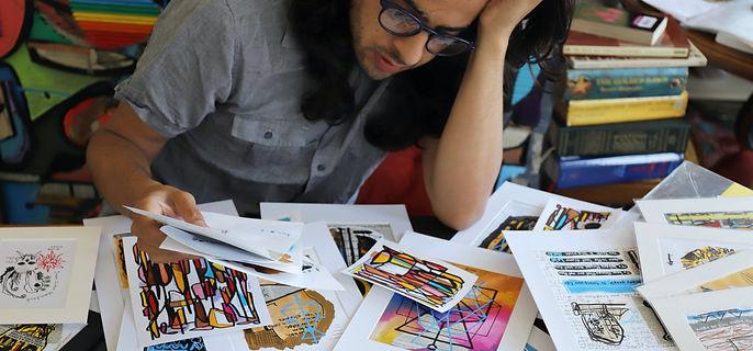 Decolife art, drawing, work, work on canvas, collage, street art